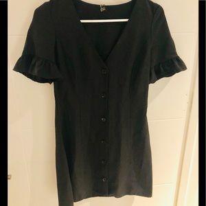 Zara Black Button Dress